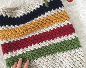 The HUDSON Cowl   Color Block Cowl   Textured Cowl   Crochet Cowl   Crochet Scarf   Neckwarmer