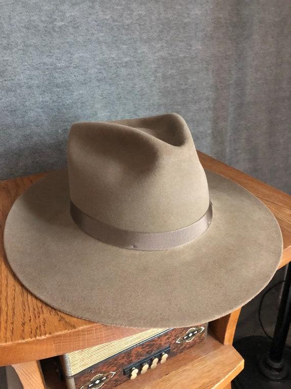 Vintage (Restored) western Pilgrim fedora hat 7 3/
