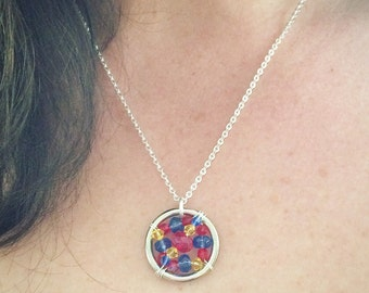 The Autism and Aspergers Syndrome Awareness Necklace:The Life Collection/Sterling Silver/Red/Blue/Yellow/Cause/Charity/Ribbon/Swarovski bead