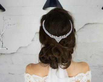 Bridal Hair Comb, Crystal Bridal Headpiece, Wedding Head Piece, Bridal Head Chain, Crystal Hair Combs, Hair Piece, Hair Accessories