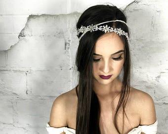 Wedding Headband, Crystal Hair Piece, Bridal Headpiece, Bridal Hair Piece, Bridal Hair Jewelry, Halo Headpiece, hair accessories