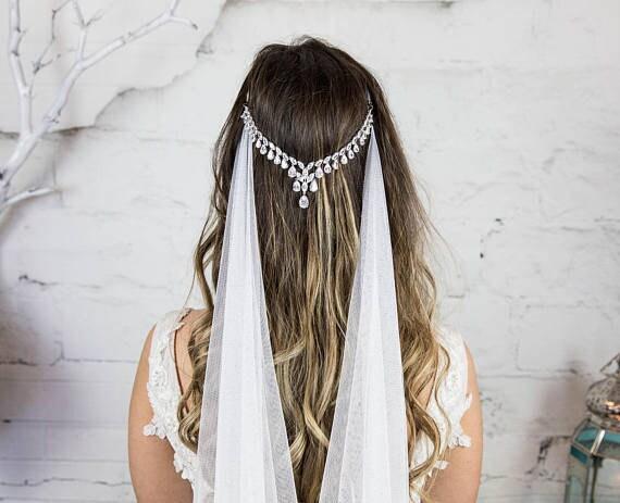 Silver Bridal Headpiece Wedding Hair Comb Bride Hair Etsy