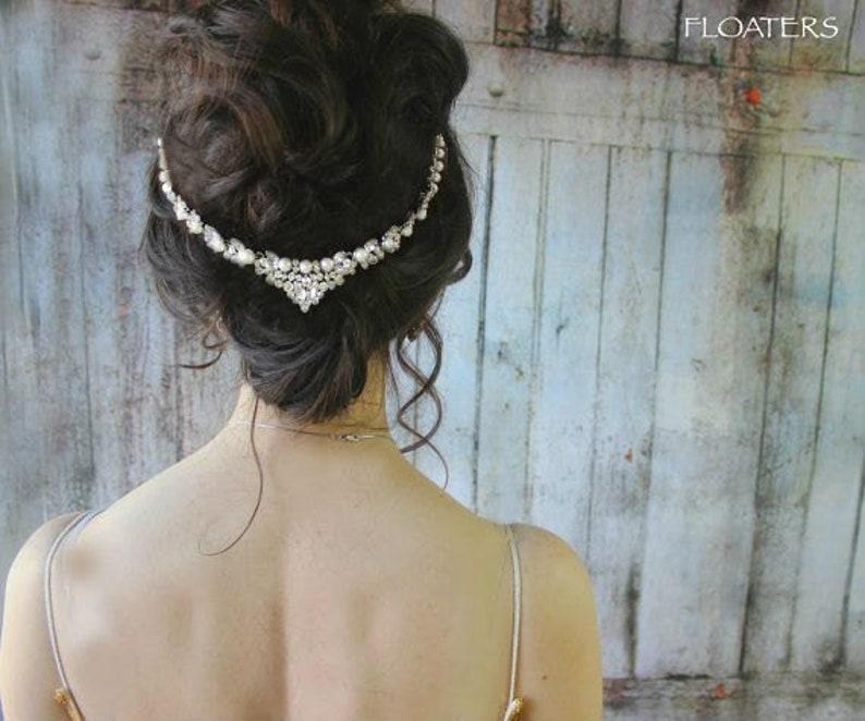 Wedding Hair Comb Pearl Bridal Headpiece Crystal Hair Piece Boho beach Wedding Hair Accessories