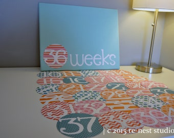mama-to-be pregnancy/maternity milestone calendar - pregnancy week/pregnancy announcement/mom-to-be