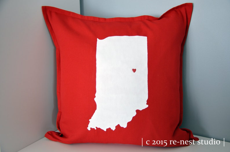 home state throw pillow  hand painted for you image 0