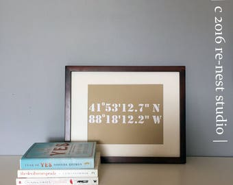 new home/housewarming coordinates framed art - first home/new home/housewarming/realtor gift/closing day/move in day/personalized home gift