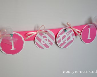 i am one! customized high chair birthday banner - perfect for first birthdays!
