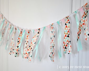 customized fabric strips banner - nursery decor/fabric banner/over the crib banner/fabric photo backdrop/baby room/mantle fabric banner