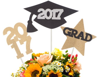 graduation cap centerpiece stick graduation cake topper etsy