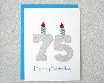 75th Birthday Card Milestone Greeting Seventy Fifth Happy The Big 75