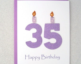 35th Birthday Card Milestone Greeting Thirty Fifth Happy The Big 35