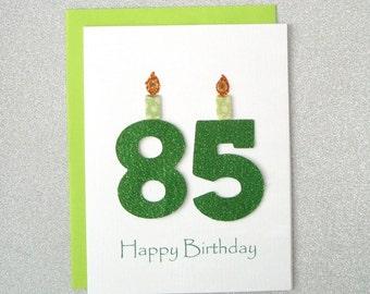 85th Birthday Card Milestone Greeting Eighty Fifth Happy The Big 85
