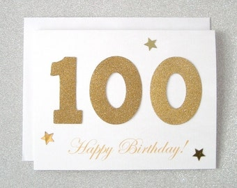 100th Birthday Card Milestone Greeting One Hundredth Turning 100