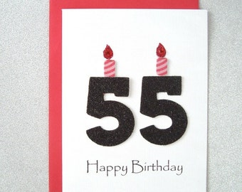 55th Birthday Card Milestone Greeting Fifty Fifth Happy The Big 55