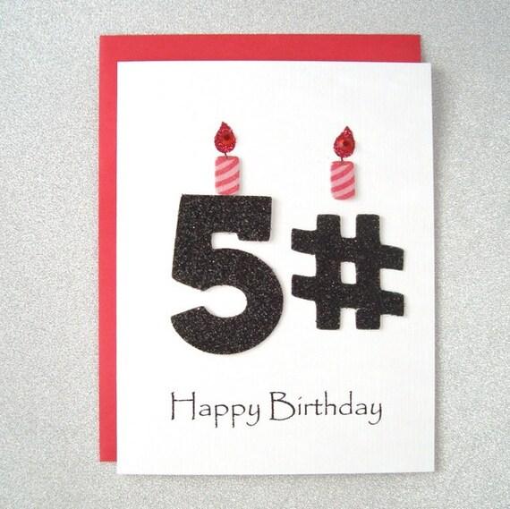 Happy Birthday Card 51st 52nd 53rd 54th 55th 56th