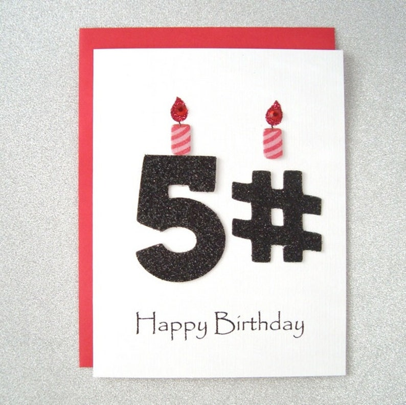 Happy Birthday Card 51st 52nd 53rd 54th 55th 56th