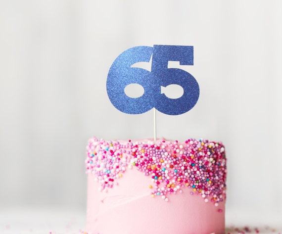 65 Cake Topper 65th Birthday