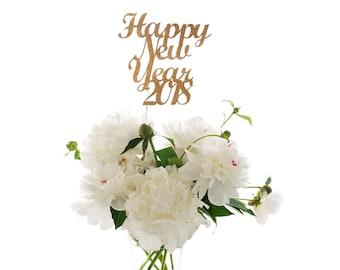 Happy New Year 2018 Centerpiece Stick, New Year's Eve Decorations, New Year's Party Decorations, 2018 Centerpiece Wand, 2018 Stick