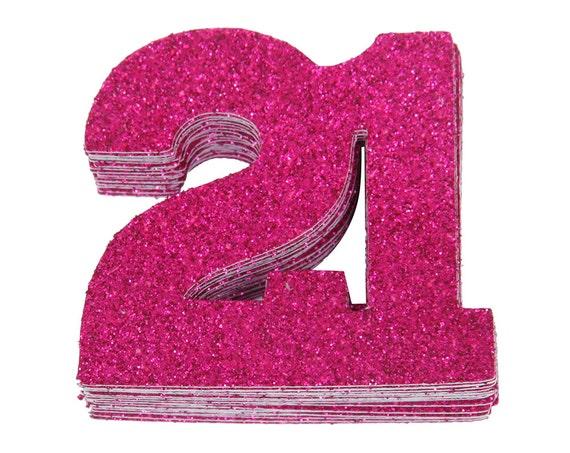 21st birthday confetti twenty first birthday party table etsy