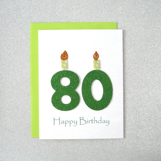 80th Birthday Card Milestone Greeting Eightieth Happy