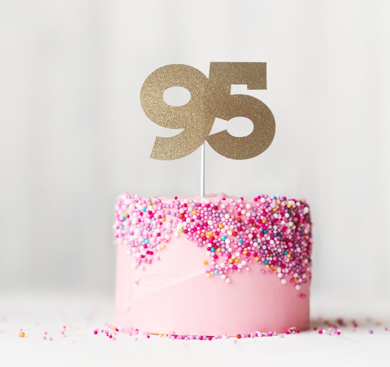 95 Cake Topper 95th Birthday Ninety Fifth