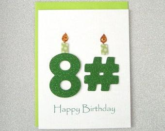 Happy Birthday Card - 81st, 82nd, 83rd, 84th, 85th, 86th, 87th, 88th, 89th Birthday