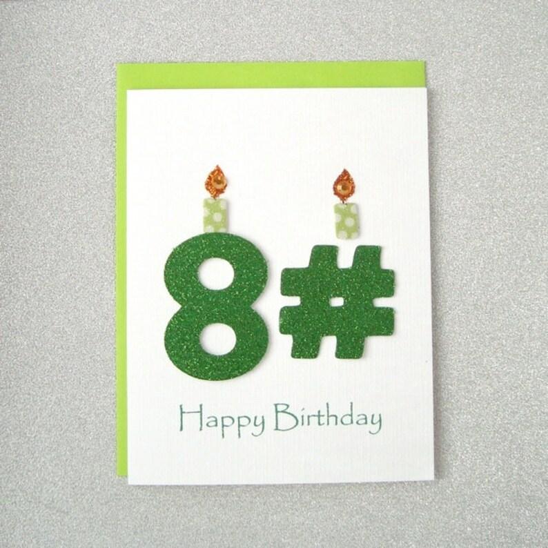 Happy Birthday Card 81st 82nd 83rd 84th 85th 86th
