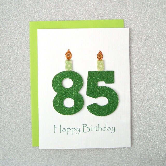 85th Birthday Card Milestone