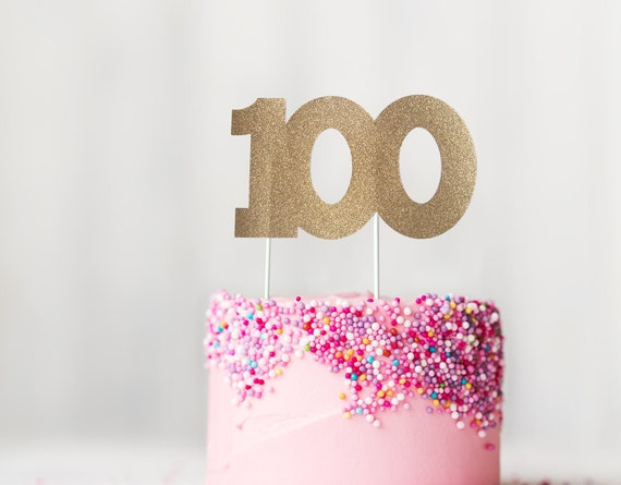 100 Cake Topper 100th Birthday Anniversary