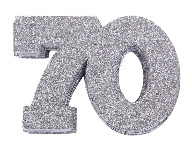70 Confetti 70th Birthday Confetti 70th Anniversary image 0