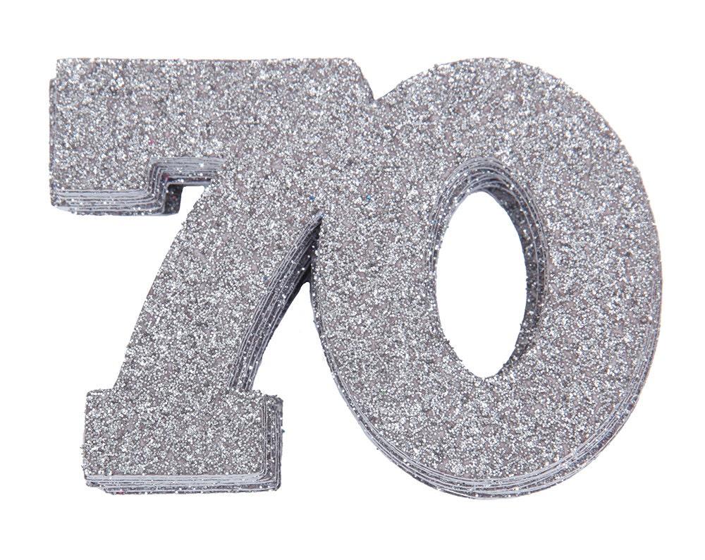 70 Confetti 70th Birthday Anniversary