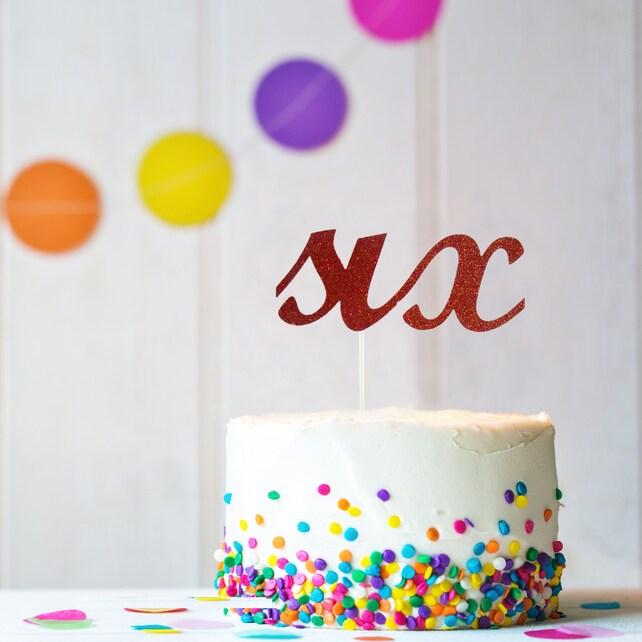 Sechs Kuchen Topper 6 Kuchendeckel Jungen 6 Geburtstag Etsy