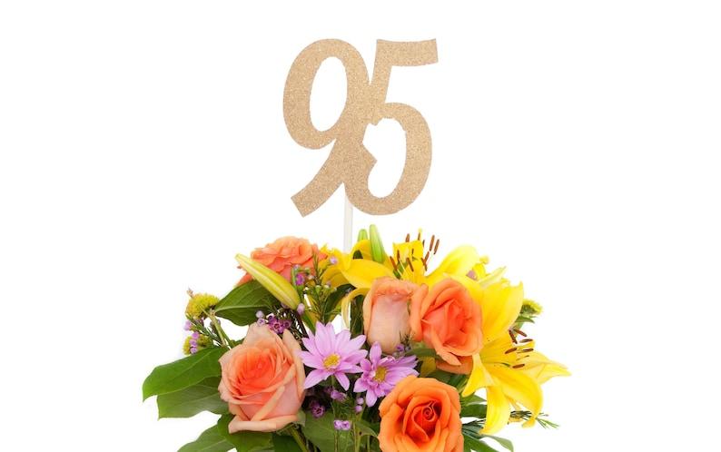 95 Centerpiece Stick 95th Birthday Decoration Anniversary
