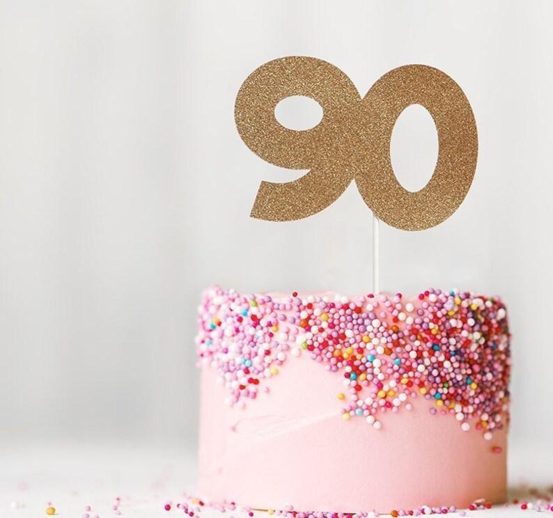 90th Milestone Birthday Cake Topper Party