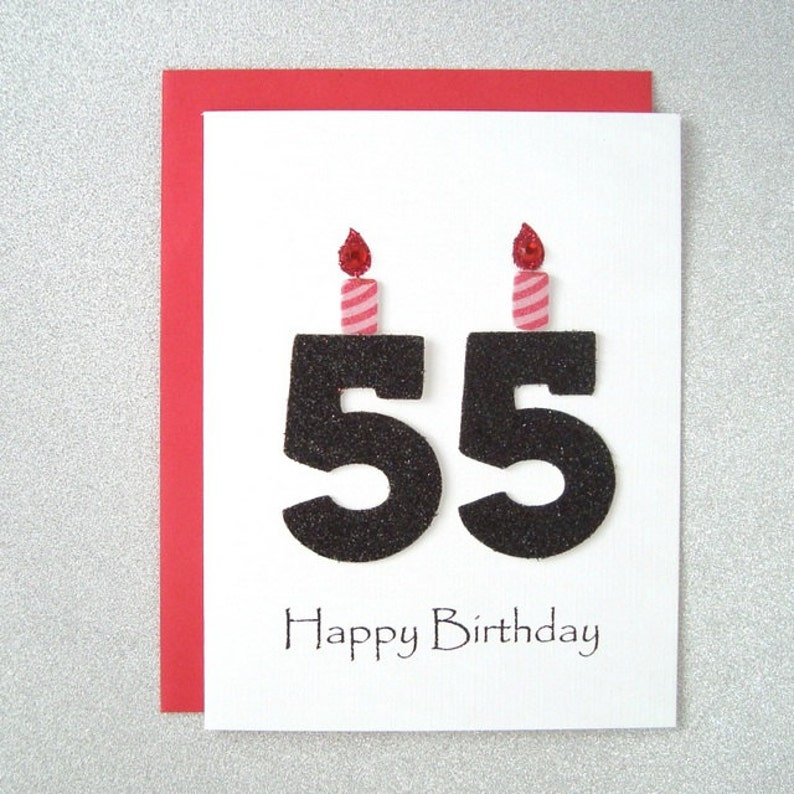 55th Birthday Card Milestone