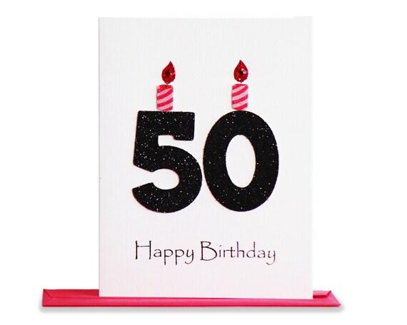 50th Birthday Card 50th Milestone Birthday Card 50th Etsy