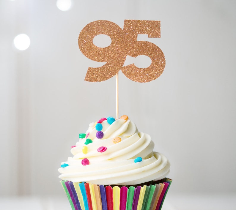 95 Cupcake Topper 95th Birthday