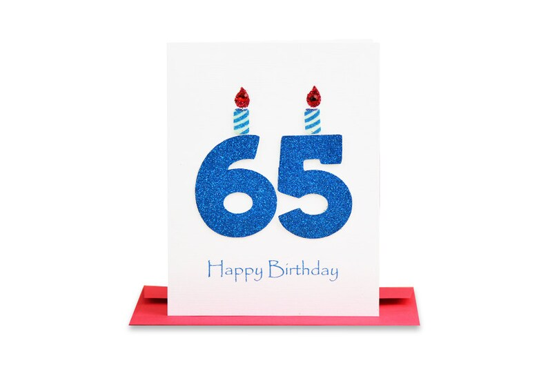 65th Birthday Card Milestone Greeting Sixty Fifth Happy The Big 65