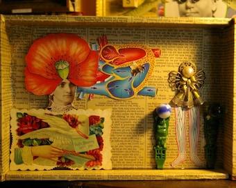 "Box Art Assemblage ""Poppy Love"""