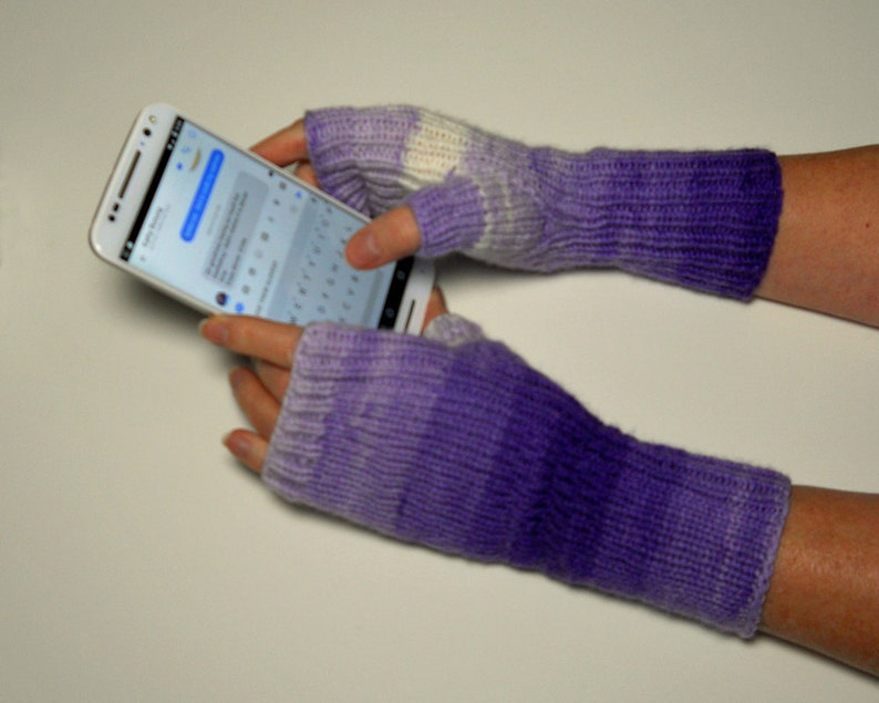 Knit Texting Gloves Fingerless Mitts Winter Handwarmers | Etsy
