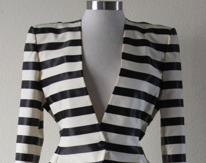Vintage 1990s Super Chic And Stylish Striped Giorgio Armani Skirt Suit