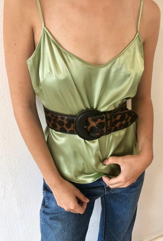 90's Vintage Silk Green Cami