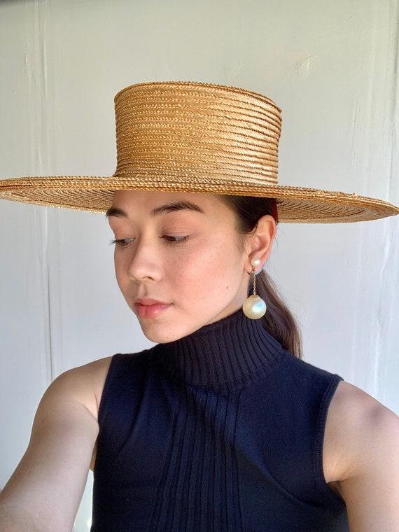 60's Wide Brim Straw Sun Hat