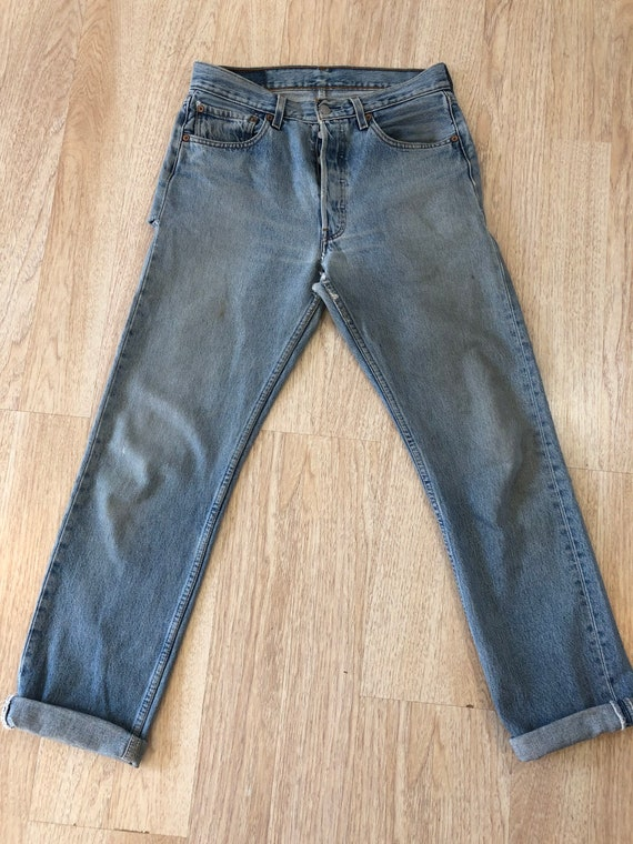 90's Vintage Distressed 501 Levi's Torn On The Ba… - image 8