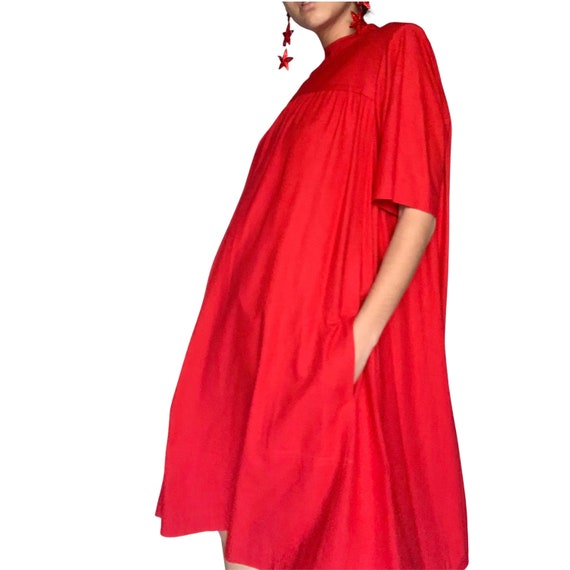 70's YSL Silk Red Dress