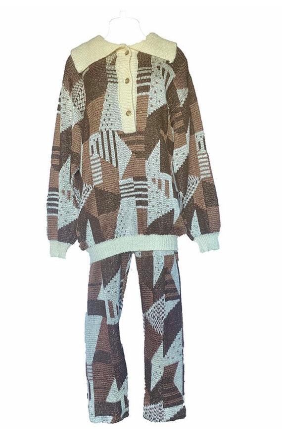 Ted Lapidus Printed Sweater Set