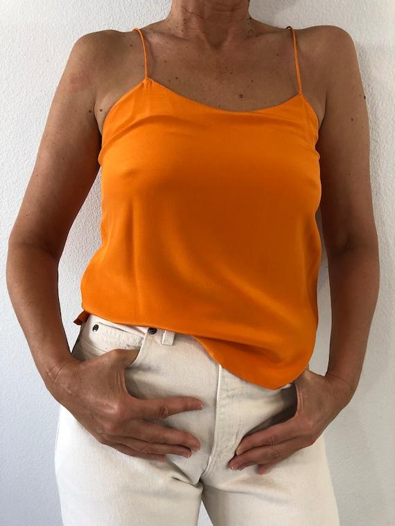 Vintage Jeccinni Orange Silk Cami