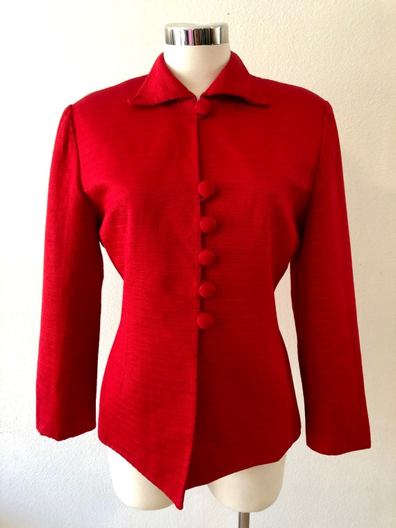 Vintage Christian Dior Red Blazer