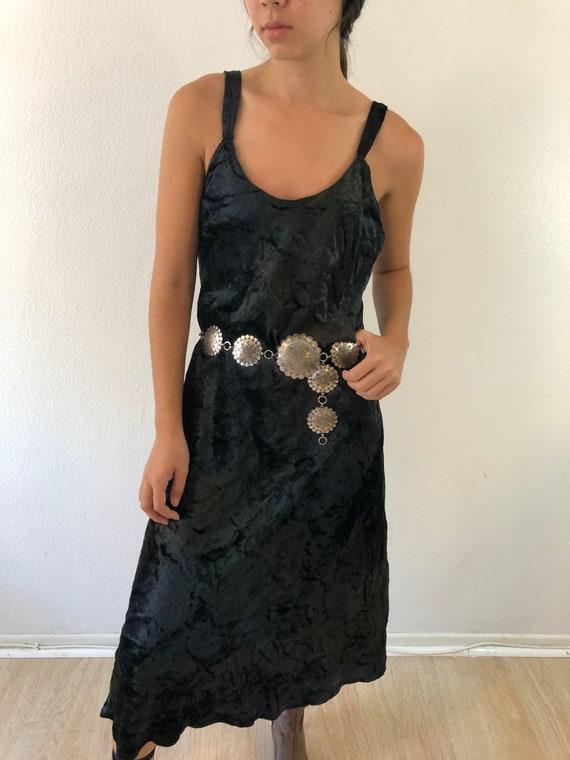 Vintage Crushed Velvet Slip Dress