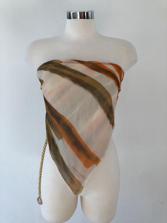 Vintage Lanvin Silk Chiffon Scarf
